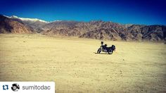 #Repost @sumitcdac with @repostapp To get featured tag your post with #talestreet Its not about THE  DESTINATION... Its about THE  RIDE !!! Somewhere in ladakh... #Travel #traveler #wanderer #travelogue #traveldiaries #travelislife #wanderer #wanderlust  #travelography #travelph #colddesert #ladakh #kashmir #heaven #explore #travelindia #exploreindia #twitter #travelworld #exploration #_soi #indiaclicks #biketrip #roadtrip #bikers