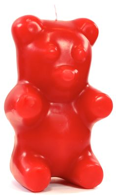 Gummi Bear Candle - Red