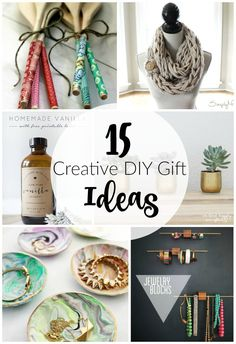 15 Creative handmade gifts that anyone would love to receive!  Littlehouseoffour.com