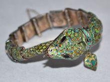 Margot de Taxco ~ Sterling & Enamel Snake Bracelet