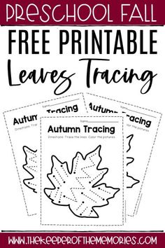 These free printable Fall tracing worksheets are an excellent way to practice pencil grip and pre-writing skills with preschool learners. Download yours today! #fall #preschool #preschoolworksheets #finemotor #prewriting #autumn Preschool Writing, Fall Preschool, Preschool Themes, Preschool Printables, Preschool Kindergarten, Preschool Worksheets, Tracing Worksheets, Printable Worksheets, Free Printable