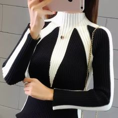 Discount Up to Winter Sweaters Women 2019 Fashion Jumpers Korean Hit Color Pullovers Knitting Pullovers Thick Christmas Sweater Pull Femme Knitting Pullover, Cardigan Au Crochet, Lace Knitting, Knitting Sweaters, Women's Sweaters, Crochet Shawl, Sweater Cardigan, Jumper Patterns, Cardigan Pattern