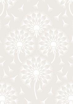 Dandelion Metallic Wallpaper - Eco White Light Collection - Lime Lace £38.95 #ecowhitelight #whitecollection #patternwallpaper