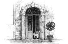"""Mari Mochizuki's drawing """"La mia Roma"""" (C)mochizukimari.com  #Roma #Drawing"""