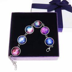 Universe bracelet. Galaxy Space Bracelet, Nebula Outer Space Stack Bracelet