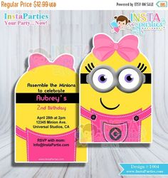 SALE SALE SALE Minion minions birthday party by InstaParties