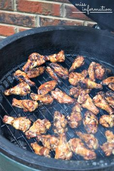 Chicken Wings on the Grill 4  - Miss Information