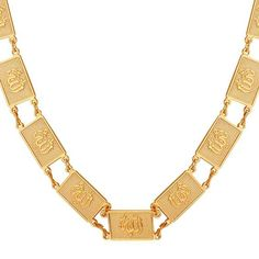 U7 Gold Allah Necklace 18K Stamp Gold Plated Muslim Jewelry 18K Gold Plated Choker Necklace -- Check this awesome product by going to the link at the image.