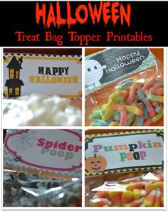 Halloween Treat Bag Topper {PRINTABLES}