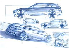 BMW Concept Design Sketches by Cyril Verbrugge, currently exterior designer at Porsche