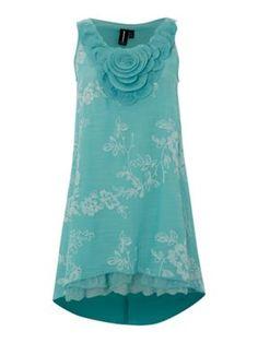 Izabel London Rose bib dress Turquoise - House of Fraser