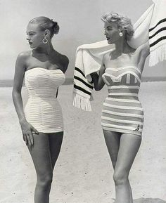 love this style - retro glamour #glamourous #retro #vintage #photography #summer #beach #surf #swimware #babes