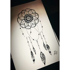 #dream #catcher #tattoo #mandala #art #drawing #dreamcatcher #love #night #mind #mywork #photo