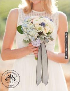 Hydrangea Wedding Bouquet | VIA #WEDDINGPINS.NET