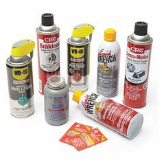 Chemicals to Keep on Hand - 14 Cool Auto Shop Tools You Need: http://www.familyhandyman.com/automotive/car-maintenance/cool-auto-shop-tools-you-need