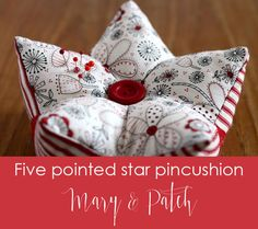 Maryandpatch, patchwork, five pointed star pincushion technique and tutorial Small Sewing Projects, Sewing Hacks, Sewing Tutorials, Sewing Crafts, Hand Quilting, Machine Quilting, Quilt Patterns, Sewing Patterns, Five Pointed Star
