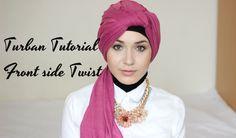 Turban Tutorial - Front Side Twist | Nabiilabee