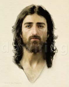 Browse through images in Ray Downing's Face of Jesus collection. Digital portraits of Jesus based on the information encoded in an ancient artifact called the Shroud or Turin, as featured on the History Channel special Pictures Of Jesus Christ, Religious Pictures, Religious Art, Jesus Face, My Jesus, Jesus Reyes, 3d Computer Graphics, Holy Mary, Son Of God