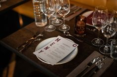 Menu designed for Winemakers Dinner arranged by Tenuta Carretta, Flaaten Wines and Dilla Holding at Cargo Restaurant & Bar, located in Oslo, Norway. Kaja, Menu Design, Dinner Menu, Oslo, Restaurant Bar, Wines, Norway, Table Settings, Branding