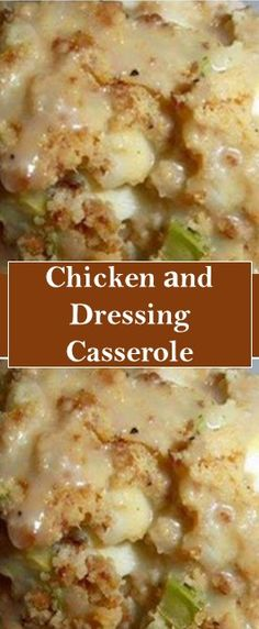 Related: Chicken аnd Dressing Casserole Chicken аnd Dressing Casserole Ingredients 1 ounces) can condensed cream оf mu. Chicken And Dressing Casserole, Chicken Stuffing Casserole, Chicken Dressing, Stuffing Mix, Turkey Recipes, Meat Recipes, Chicken Recipes, Cooking Recipes, Recipies