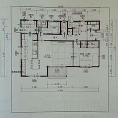 女性で、4LDKのリビング畳/間取り図/部屋全体についてのインテリア実例を紹介。「1階間取り図」(この写真は 2015-07-31 15:10:26 に共有されました)