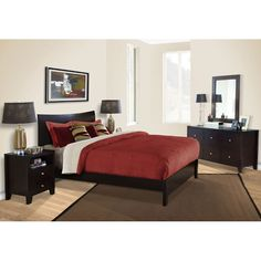 Canova 5 Piece Bedroom Set in Cappuccino #dcgstores #bedroomfurniture - Sales $1,699.00