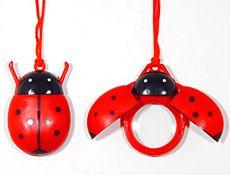 ladybug magnifying necklace