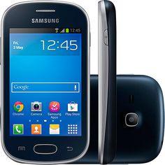 "Smartphone Samsung Galaxy Fame Lite S6790 Desbloqueado Vivo Android 4.1 Tela 3.5"" 4GB Câmera 3MP 3G Wi-Fi GPS - Preto - Shoptime"