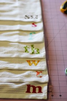 Dishcloth a day. Cute idea but i feel like it would end up like the underwear we wore in elementary school. You eventually stop caring what day it is and suddenly your using Wednesday's dishcloth/underwear on Sunday.