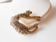 Leopard Brooch Vintage Leopard Jewelry by LittleBitsofGlamour, $30.00