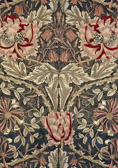 New art nouveau pattern textiles william morris ideas William Morris Wallpaper, William Morris Art, Morris Wallpapers, Arts And Crafts Movement, Art And Craft Design, Design Art, Papier Peint Art Nouveau, Textures Patterns, Print Patterns