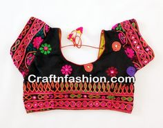 Multi Embroidery  Readymade Kutch Blouse- Multicolor Kutch Embroidered Blouse