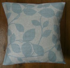 Bespoke covers individually made for you You are purchasing one pair of cushion covers professionally made with Chesil Duck Egg A 83 Viscose 17 Linen