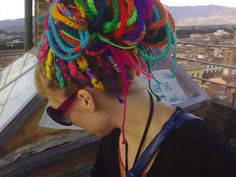 Check out these crocheted dreadlocks!  Wow!