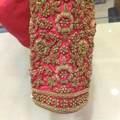 Items similar to Bridal blouse on Etsy Pattu Saree Blouse Designs, Fancy Blouse Designs, Bridal Blouse Designs, Blouse Neck Designs, Lehenga Blouse, Saree Dress, Hand Work Blouse Design, Maggam Work Designs, Designer Blouse Patterns