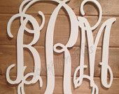 30 inch White Vine Connected Monogram Letters - Wedding Monogram/Wedding Guestbook