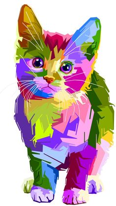 Colorful, kitten, art, cat, 720x1280 wallpaper - #720x1280 #art #Cat #colorful #kitten #wallpaper