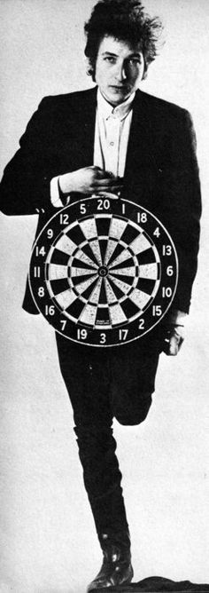 Bob Dylan and target, uncredited photo