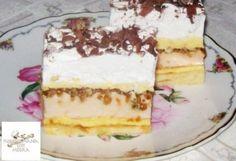 Hungarian Cake, Hungarian Recipes, Cake Bars, Sweet And Salty, Tiramisu, Tart, Cake Recipes, Food And Drink, Pie