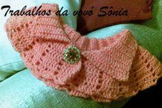 Trabalhos da vovó Sônia: Gola de croché - 1 modelo, duas variações