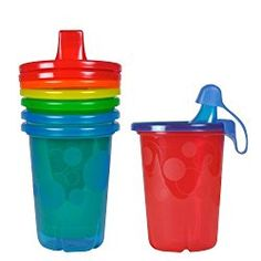 New Making Things Convenient For The People Snap-on 4 Count Take Toss Spill-proof Sippy Cups 10 Ounce Valve-free