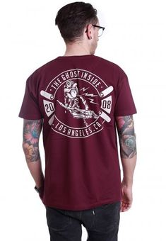 8731f9630a85b The Ghost Inside - Skeleton Hand Maroon - T-Shirt
