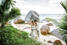 intimate and tropical wedding at Hilton Labriz in Seychelles, photos by Claire Morgan Photography | via junebugweddings.com