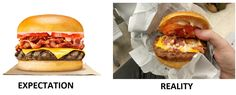 """""""Bacon Feast"""" indeed... expectation vs. reality. What a disappointment! #BurgerKing #food #BK #whopper #burger #fastfood"""