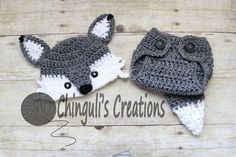 Crochet Wolf Outfit Baby Girl Baby Boy Wolf Hat and Diaper Cover newborn Wolf Outfit Wolf Set WolfPhoto Prop by Chinguliscreations on Etsy https://www.etsy.com/listing/482766000/crochet-wolf-outfit-baby-girl-baby-boy