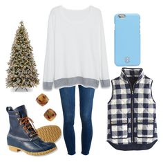 """Set 5// getting a tree"" by miss-southern-girl ❤ liked on Polyvore featuring Paige Denim, Violeta by Mango, Tory Burch, J.Crew, L.L.Bean, Kate Spade and twelvedaysofchristmas2k15"
