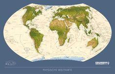 Carte Murale du Monde Physique et des Oceans 3 x 2m: Amazon.fr