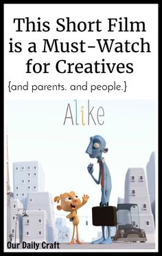 This short film about creativity will take 8 minutes of your time but it just might change your life. Check out Alike and I dare you not to get creative.