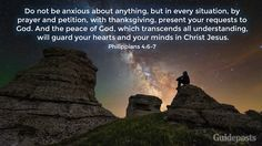 Bible Verses for a Good Night's Sleep - Philippians 4:6-7