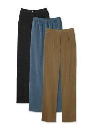 Country Suede Pants / Plain Front